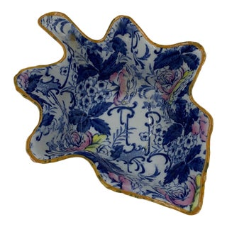 "Late 19th Century Adams English ""Palissy"" Chintz Pickle Dish For Sale"