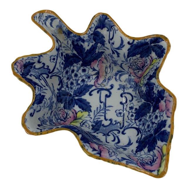 """Late 19th Century Adams English """"Palissy"""" Chintz Pickle Dish For Sale"""