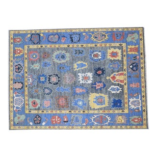 Modern Turkish Oushak Rug - 8′8″ × 12′ For Sale