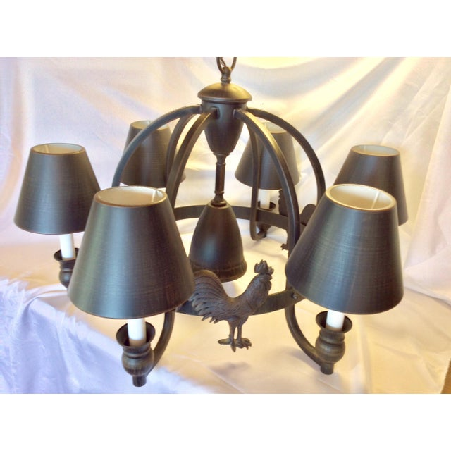 Black Late 20th Century Modern Farmhouse Chandelier For Sale - Image 8 of 13