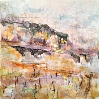 """Winter Vineyard"" by Trixie Pitts Abstract Landscape Painting For Sale"