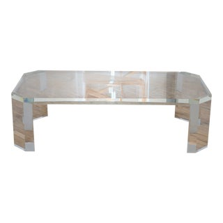 Charles Hollis Jones L'Ami Lucite Coffee Table For Sale