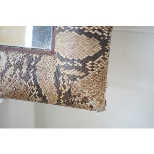 """""""Snake Skin"""" Vintage Mirror For Sale In Nashville - Image 6 of 9"""
