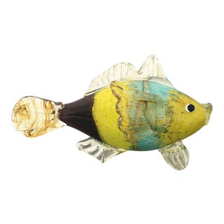 Contemporary Blown Glass Tropical Fish For Sale