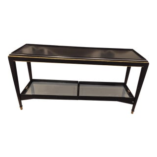 Contemporary Lilian August Console With Mirrored Tray Table For Sale