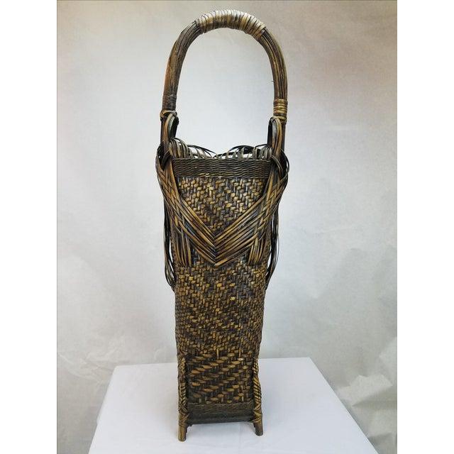 Woven Split Rattan Tall Umbrella Basket - Image 2 of 5