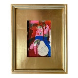 "Image of ""Ice Cream Accident"" Mini Painting With Gold Frame For Sale"