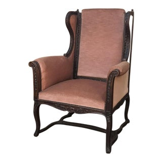 19th Century French Louis XVI Grand Armchair ~ Bergere For Sale