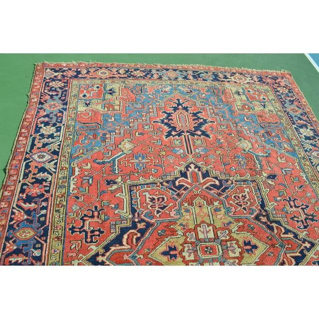 """Antique Persian Heriz Rug - 7'9"""" x 11'5"""" - Image 3 of 10"""