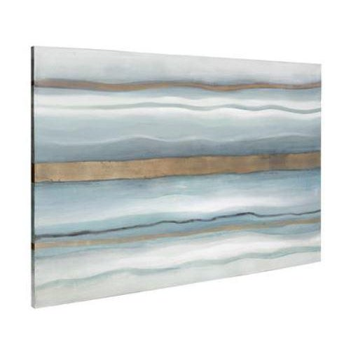 Like the great wind itself, our Zephyr Hand Painted Canvas Wall Art creates movement across the canvas. Rippling lines of...