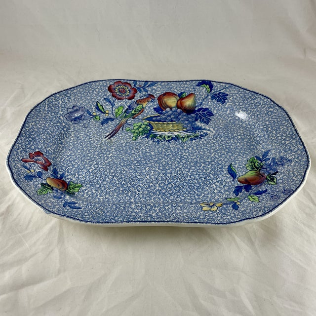 """From Copeland Spode, in the George III pattern, a platter, circa early 1920s. """"Spode's George III"""" was manufactured by WT..."""