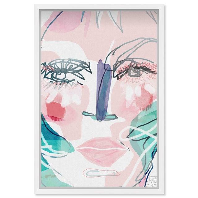 """Printmaking Materials Oliver Gal Medium 'Meghan ' Framed Art 18"""" x 26"""" For Sale - Image 7 of 7"""