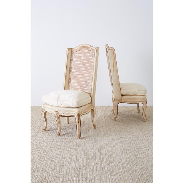 French Provincial Pair of French Provincial Five-Leg Slipper Chairs For Sale - Image 3 of 13