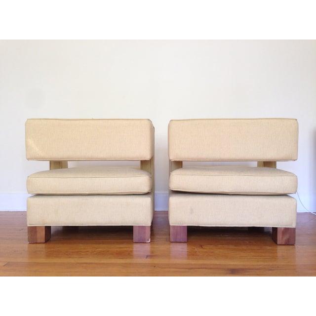 Vintage Club Chairs - Pair - Image 5 of 6