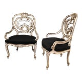 Image of Circa Early 19th Century Louis XIV Style Signed by Maison Jansen Armchairs - a Pair For Sale