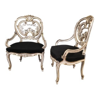 Early 19th Century Louis XIV Style Signed by Maison Jansen Armchairs - a Pair For Sale