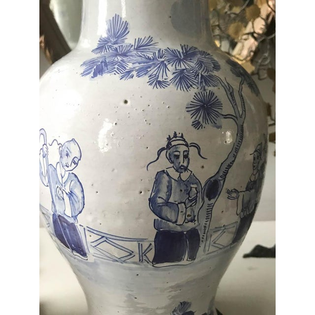 Frederick Cooper Pair, Frederick Cooper Style Blue and White Asian Lamps For Sale - Image 4 of 10