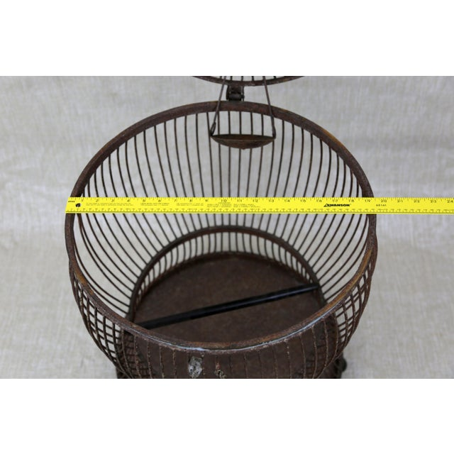 Vintage Pagoda Bird Cage For Sale - Image 10 of 11