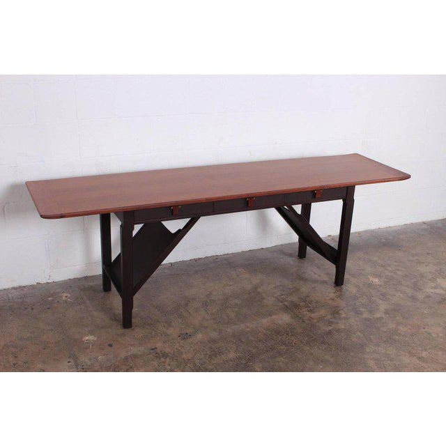 Modern Dunbar Console or Sofa Table by Edward Wormley For Sale - Image 3 of 11