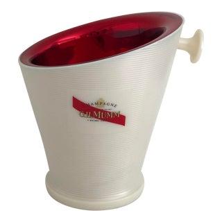 Vintage Holiday Mumm Champagne Cooler For Sale