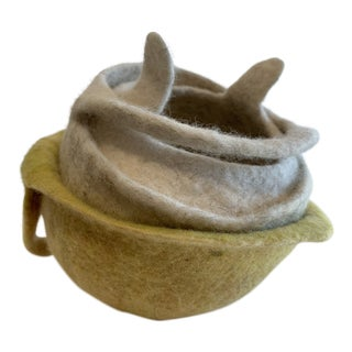 Marina Post Contemporary Abstract Felt Sculpture For Sale