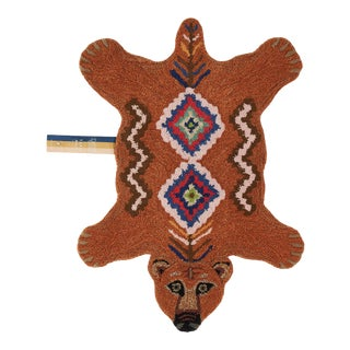 Doing Goods Berber Grizzly Bear Rug Small For Sale