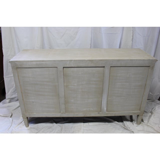Contemporary 20th Century Nine Door Taupe Oak Gustavian Dresser For Sale - Image 3 of 8