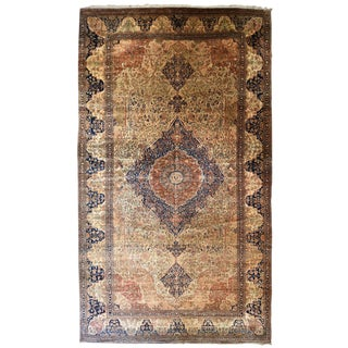 Exquisite Antique Oversize Mohtashem Kashan Carpet