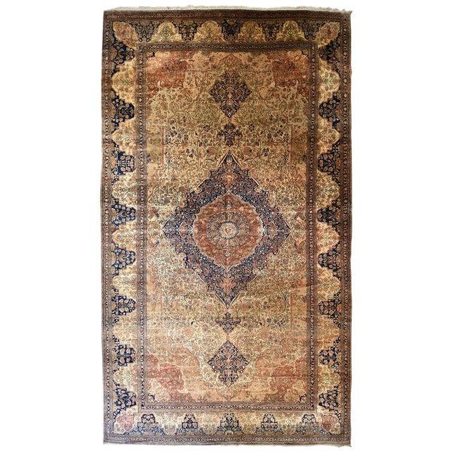 Exquisite Antique Oversize Mohtashem Kashan Carpet For Sale