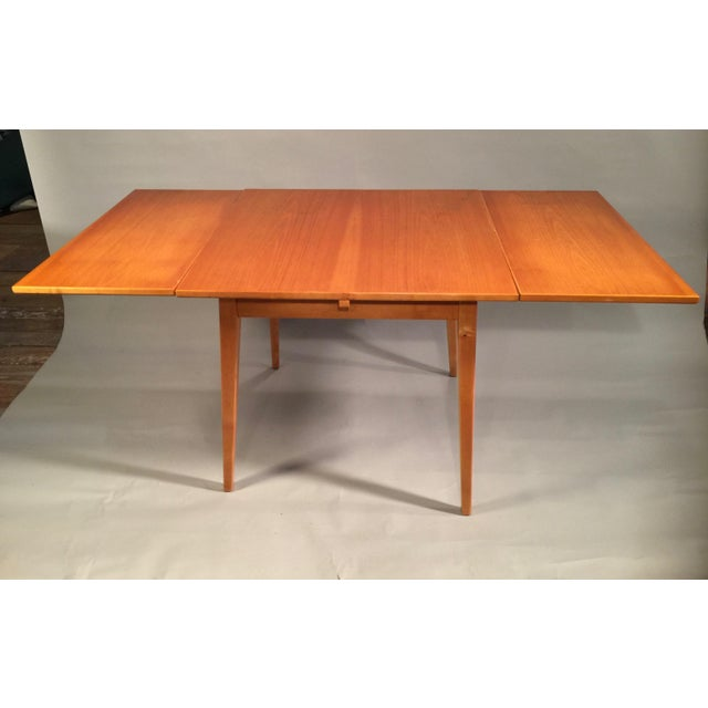 Risom-Style Birch Dining Table - Image 3 of 3
