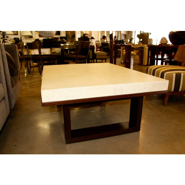 Tan Beautiful Parchment Top Table by Christopher Kennedy For Sale - Image 8 of 10