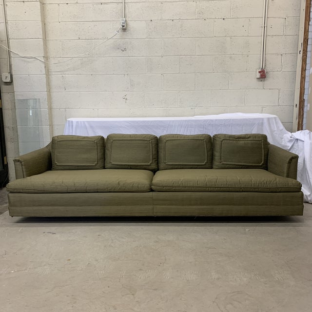 Chinoiserie Avocado Green Sofa For Sale - Image 13 of 13