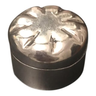 1960s Vintage Mexican Sterling Silver Trinket Box For Sale