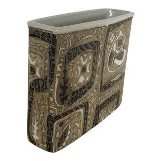 Mid-Century Modern Danish Nils Thorsson Faience Glazed Baca Vase by Royal Copenhagen For Sale