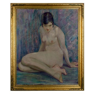 Nude Woman Oil on Canvas, 20th Century