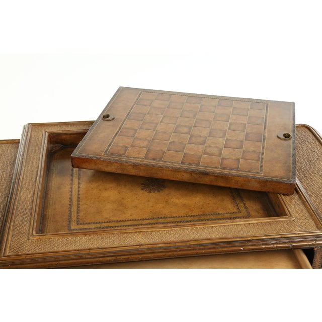 Metal Maitland Smith Game Table For Sale - Image 7 of 13