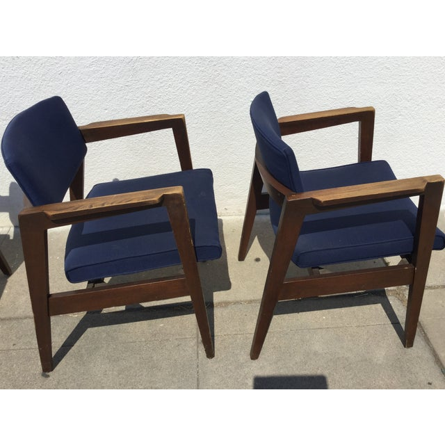 Vintage Navy Modern Chairs - Set of 4 - Image 4 of 11