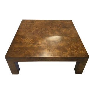Milo Baughman Burl Coffee Table