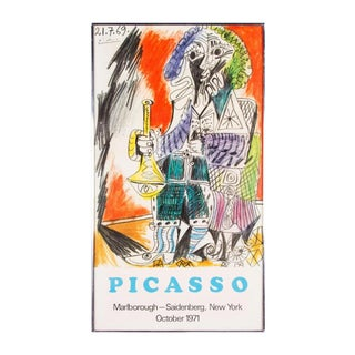 1971 Vinage Pablo Picasso - Man With the Horn- Marlborough - Saidenberg Poster For Sale