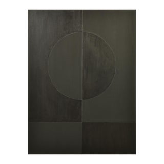 Eclipse Double Black Painting by Stephen Hansrote For Sale
