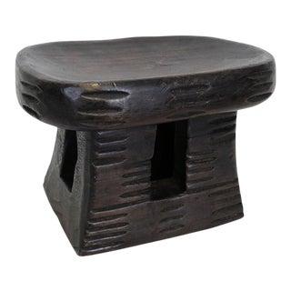 Bamileke Small Oval Stool For Sale