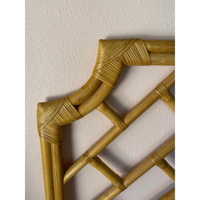 Thomas Chippendale Vintage Chippendale Styled Rattan Twin Headboards - a Pair For Sale - Image 4 of 8