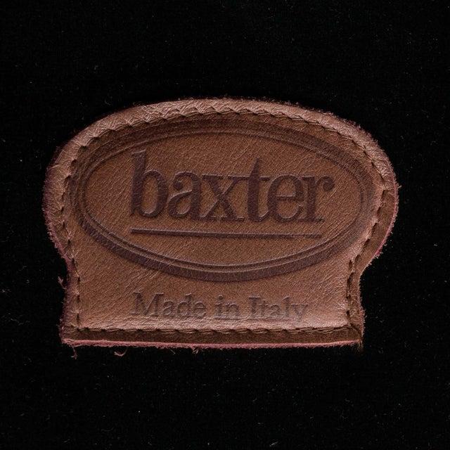 Mid-Century Baxter Buffalo Leather Italian Sofa For Sale - Image 11 of 12