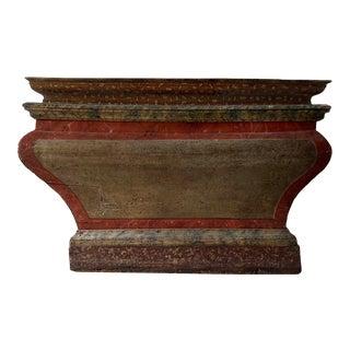 Antique Italian Faux Marble Specimen Altar For Sale