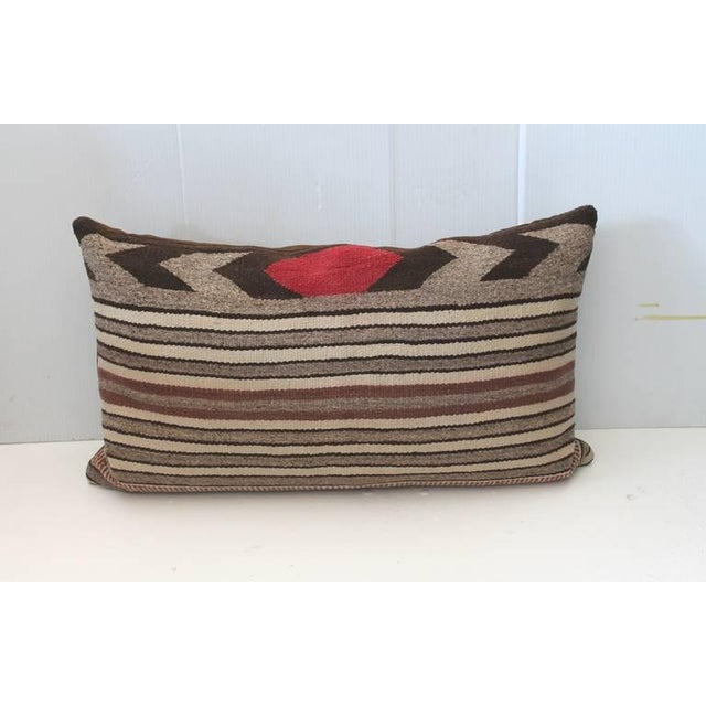 Fantastic Pair of Navajo Saddle Blanket Weaving Pillows For Sale - Image 4 of 5