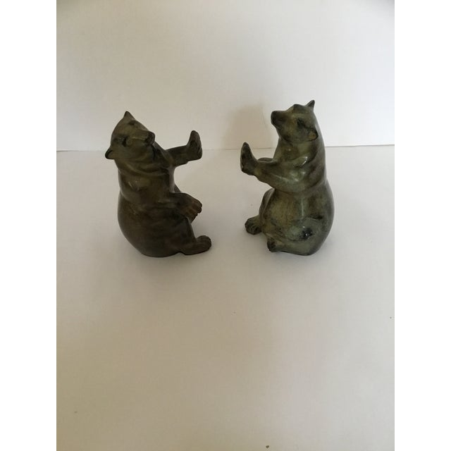 Groovy Stone Carving Polar Bear Intuit Bookends A Pair Theyellowbook Wood Chair Design Ideas Theyellowbookinfo