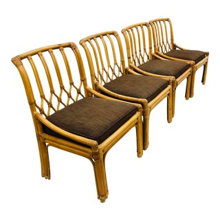 Vintage Set of Rattan Chairs For Sale