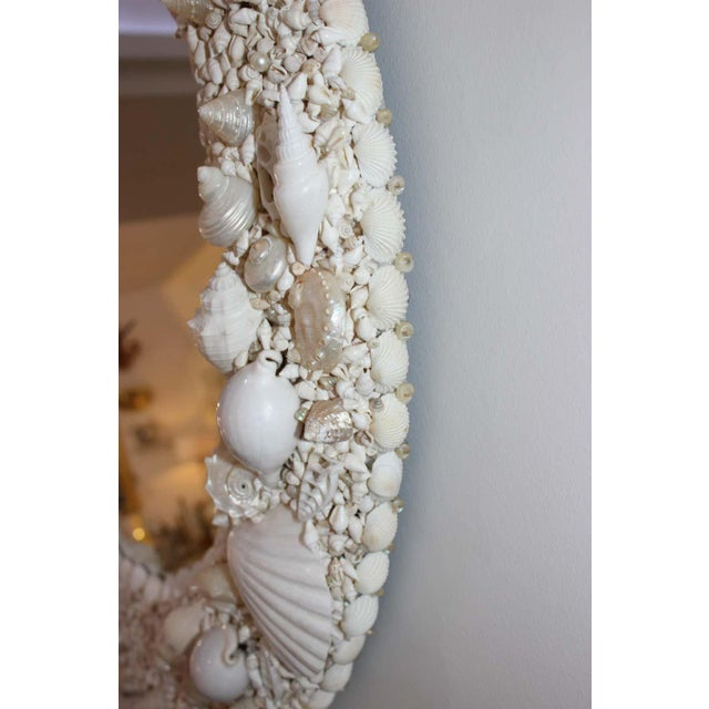 White Seashell Encrusted Mirror bySnob Galeries For Sale - Image 12 of 13