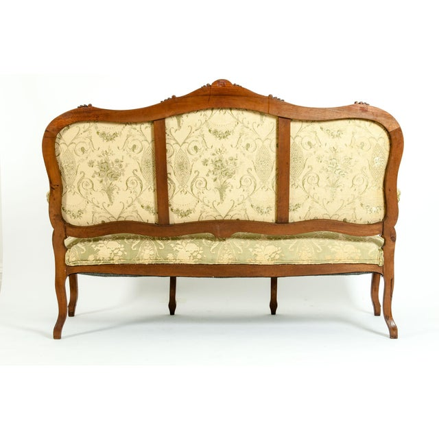 Wood Mid-19th Century Mahogany Wood Frame Salon Suite - 3 Pc. Set For Sale - Image 7 of 13