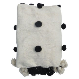 Dalmatian' Pouf Berber Wool Blanket For Sale